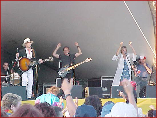 Zachary Richard and band onstage at the Festival Acadien